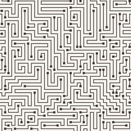 mishmash: Vector seamless pattern in the form of a labyrinth or a computer motherboard