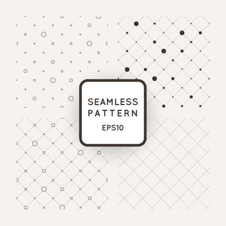 fine print: Set of vector seamless mesh-patterns, grids of dots