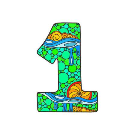 Decorative number