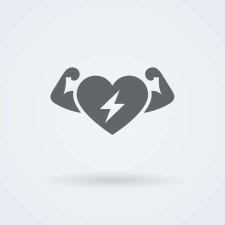 Vecteur Coeur Icône. Un seul objet. Monoicon Santé. Symbole pour l'interface.