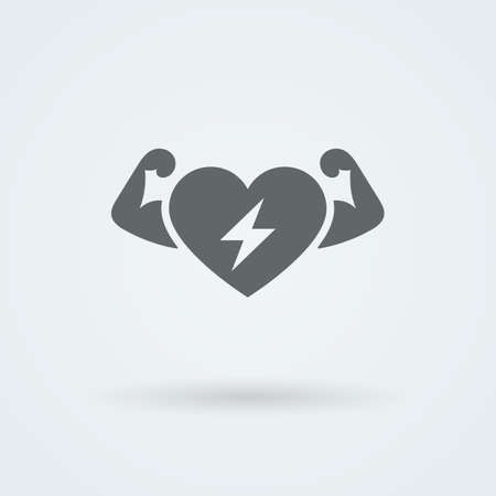 passion ecology: Vector Heart Icon. Single Object. Health Monoicon. Symbol for Interface.