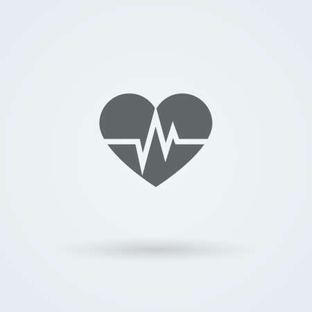 single object: Vector Heart Icon. Single Object. Health Monoicon. Symbol for Interface.