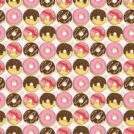 beans: Vector Muffins Seamless Pattern. Cakes, Sweets. Candy wrappers, cups and cream.