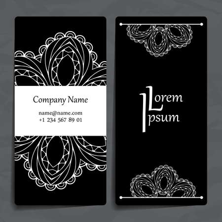 Set Of Vector Design Templates. Brochures In Random Colorful ...
