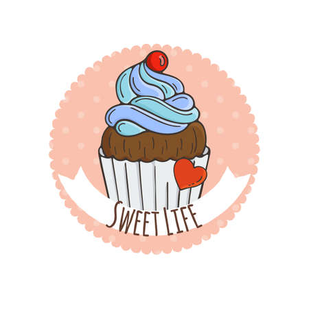 muffins: Colorful Muffins Background. Cakes, Sweets.