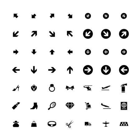Set di 49 icone universali. Stile semplice piatto. Affari, internet, web design.