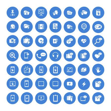 Set de 49 icônes universelles. Simple style plat. Affaires, internet, conception de sites Web.