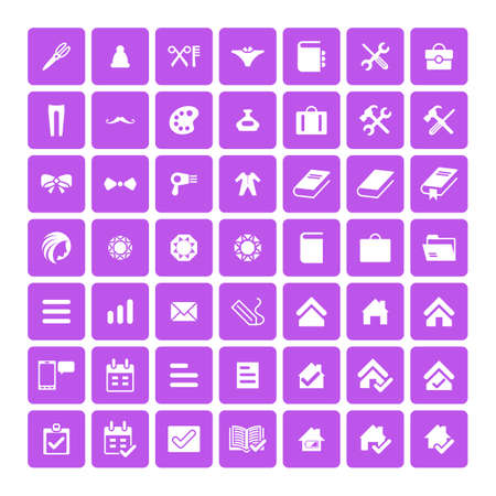 universal icons: Set of 49 Universal Icons. Simple Flat Style. Business, internet, web design.