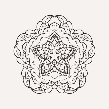 weave: Vector mandala. Mehndi lace tattoo. Oriental weave. The circular pattern.