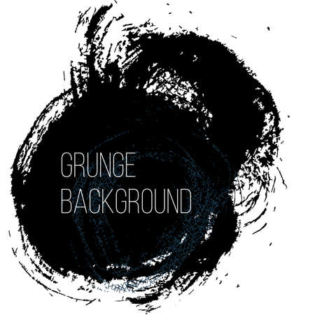 grease paint: Grunge backgound. Abstract poster. Vector illustration.
