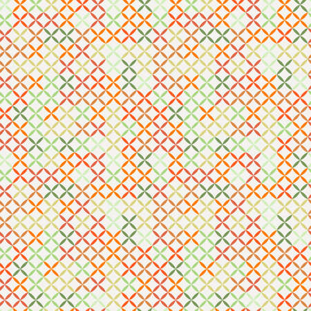 Cross stitch seamless pattern. Geomety wrap