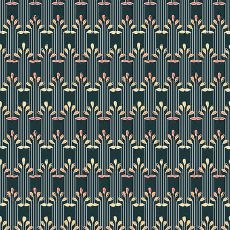 artdeco: Striped seamless pattern in art deco style. Ornate print