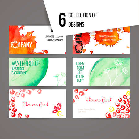 inkblot: Set of abstract ink and splashes vector banners for web and design. Collection. Illustration