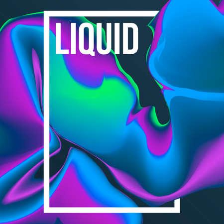 Liquid colors background. Mesh shapes fluid. Vector illustration.