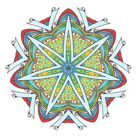 Mandala. Abstract decorative background. Islam, Arabic, oriental, indian, ottoman, yoga motifs. Vector ornament