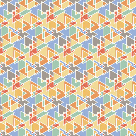 Abstract linear shapes seamless pattern Illustration