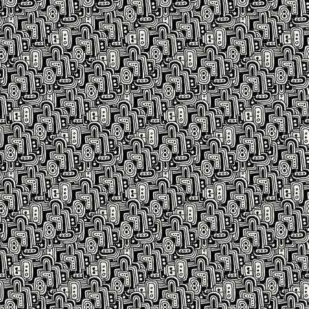 Vector drawing halftone seamless texture. Hand-drawn abstract pattern.