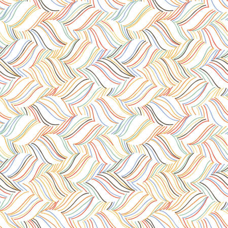 Vector doodle seamless pattern with ink brush or pen strokes. Abstract endless background. Ilustração