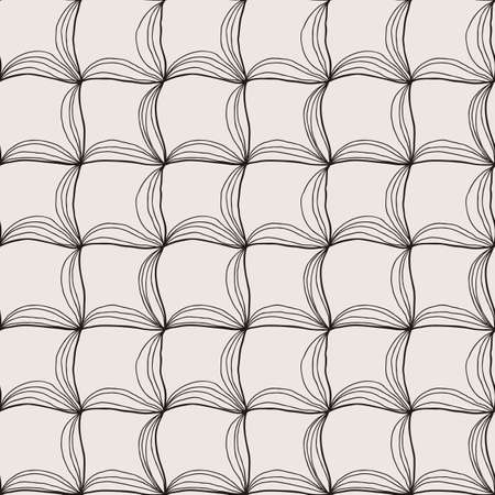 Vector doodle seamless pattern with ink brush or pen strokes. Abstract endless background. Vectores