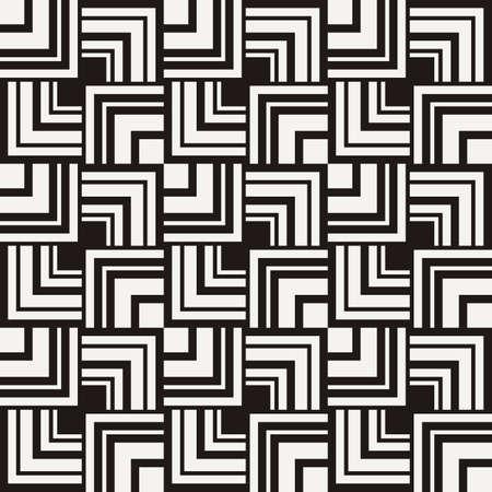 Nahtloses quadratisches Muster . Abstrakte Streifen endlose Hintergrund . Vector Regular grafiken für Drucke Vektorgrafik