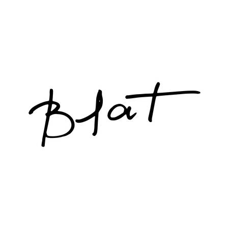 Blat. Modern ink calligraphy. Russian hand draw lettering for prints and tags. Vector illustration