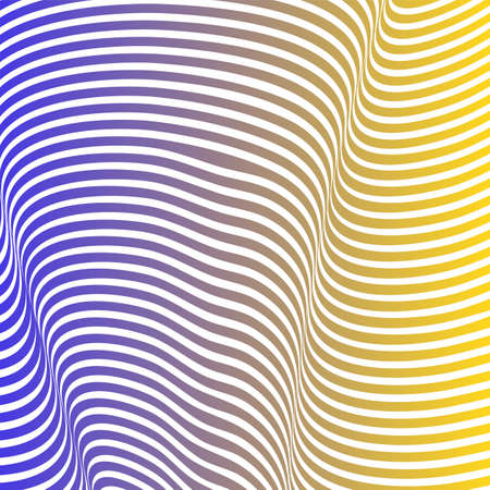 Abstract acid color wavy background, optical art, opart striped. Neon gradient, pastel shades. Vector waves, geometry line stripes
