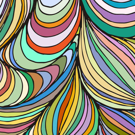 Vector ornamental petal background by undulate lines and curves. Colorful netting composition for prints and wallpaper patterns