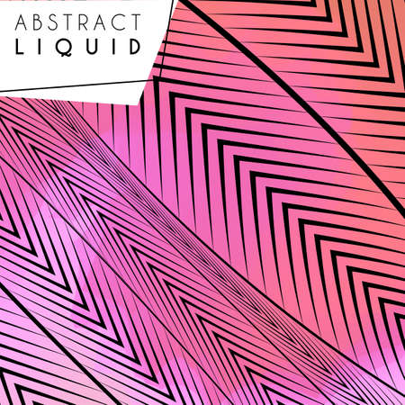 Abstract wavy background, optical art, opart striped. Vector waves, geometry line stripes
