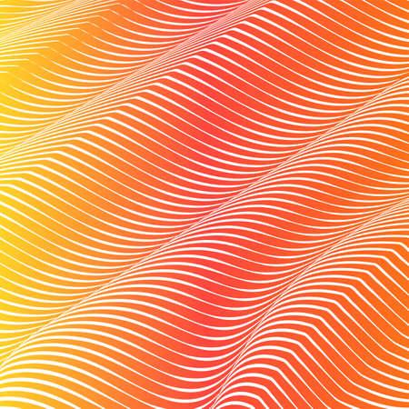 Abstract acid color wavy background, optical art, opart striped. Neon gradient, pastel shades. Vector waves, geometry line stripes Illusztráció
