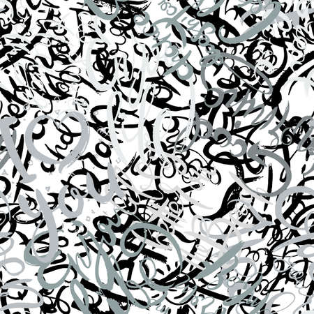 Graffiti background seamless pattern. Hand style tagging. Vandal vector lettering