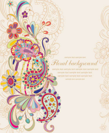 vintage floral  background Illustration
