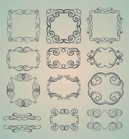 Set of ornamental frames Vector