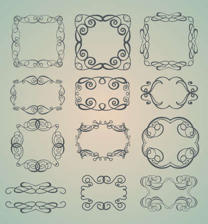 Set of ornamental frames Stock Vector - 9794607