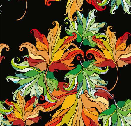 illustrators: seamless autumn background