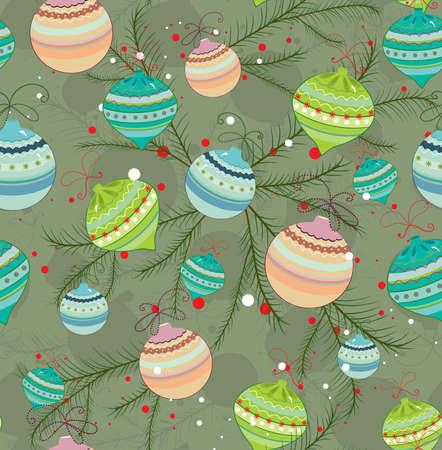 Seamless Christmas background Vector Illustration