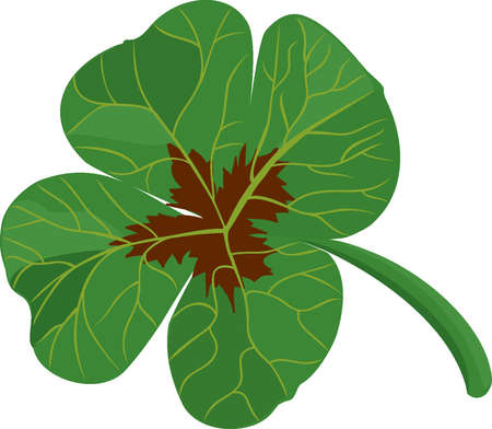 luck charms: Clover leaf