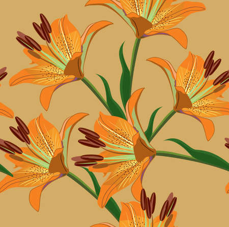 lilly: floral seamless background