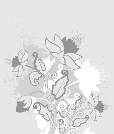 floral decoration: vintage floral background Illustration