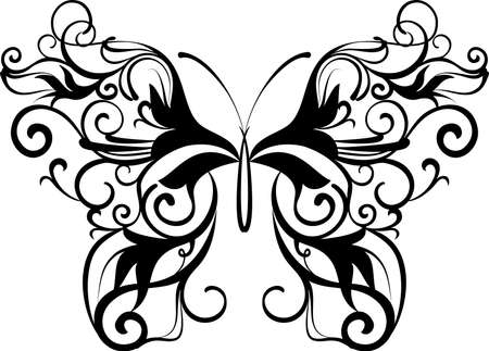 ornamental butterfly Vector