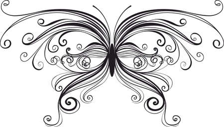 ornamental butterfly isolated on wite Stock Vector - 13822436