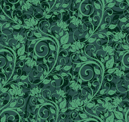 gee gee: seamless floral background