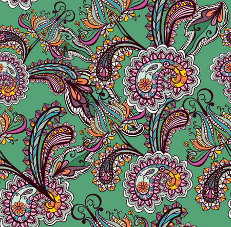 Seamless background with  paisley ornament