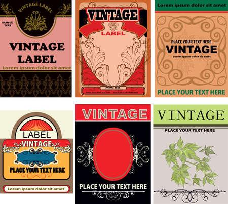 set of vintage labels Stock Vector - 14537140