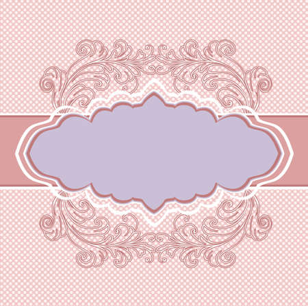 royal wedding: vintage floral background Illustration