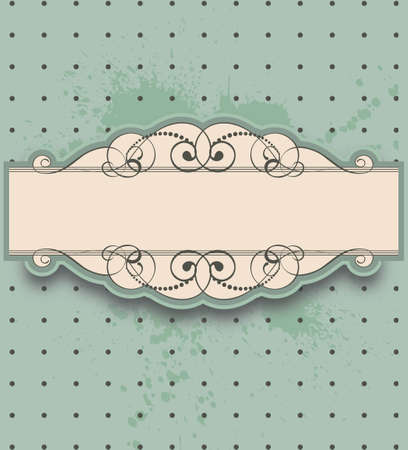 vintage stylized ornamental floral frame Illustration