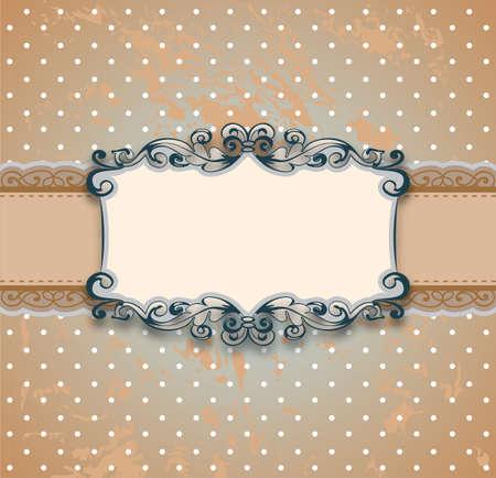 vintage stylized ornamental floral frame Vector