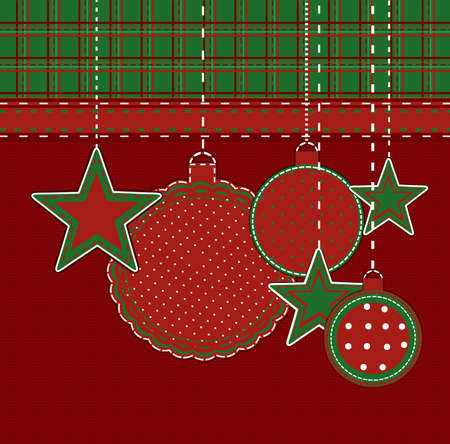 Scrapbook christmas card Vector