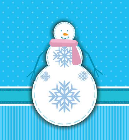 snoflake: snowman Illustration