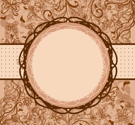 Vintage round frame Stock Vector - 18156125