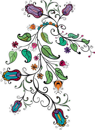 Floral ornament Stock Vector - 18156120